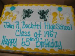 Happy Birthday Class of 1967. Baked today and gone tomorrow!